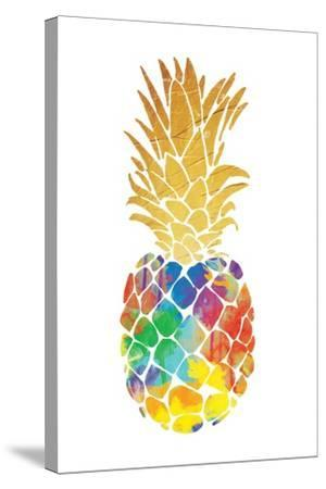 Gold Leaf Pineapple Mate-OnRei-Stretched Canvas Print