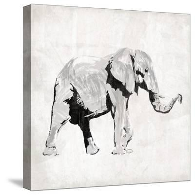 Elephant Trunk Up-OnRei-Stretched Canvas Print