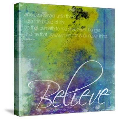 Believe-Jace Grey-Stretched Canvas Print