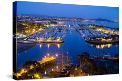 Elevated View of a Harbor, Dana Point Harbor, Dana Point, Orange County, California, USA--Stretched Canvas Print