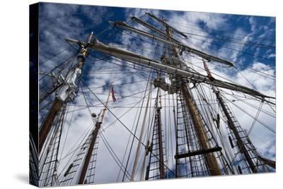 Low Angle View of Mast of Sailboat, Dana Point Harbor, Dana Point, Orange County, California, USA--Stretched Canvas Print