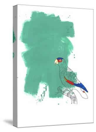 Parrot-Millie Brooks-Stretched Canvas Print