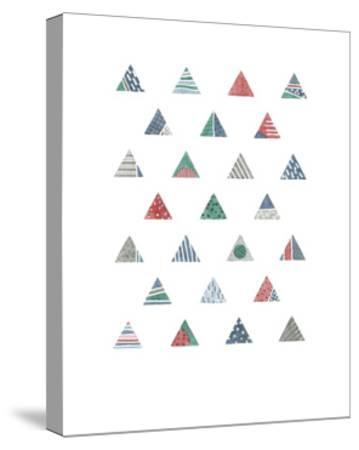 Quilted Triangles 1-Natasha Marie-Stretched Canvas Print