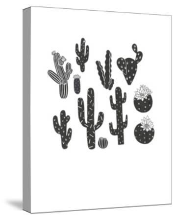 desert plants-Natasha Marie-Stretched Canvas Print