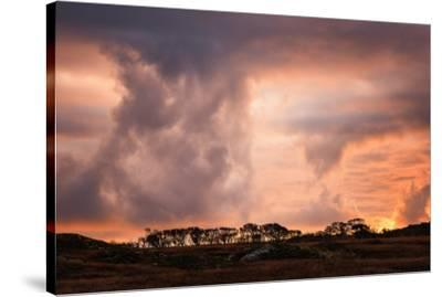 Storm clouds on the Isle of Mull, Inner Hebrides, Scotland, United Kingdom, Europe-Karen Deakin-Stretched Canvas Print