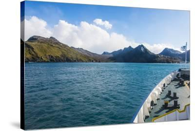 Cruise ship shipping to Ocean Harbour, South Georgia, Antarctica, Polar Regions-Michael Runkel-Stretched Canvas Print