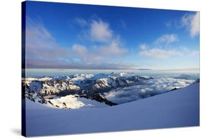 Glacier du Trient, border of Switzerland and France, Alps, Europe-Christian Kober-Stretched Canvas Print
