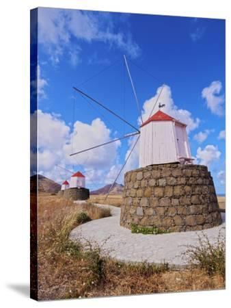 Traditional windmills of Porto Santo Island located on the way from Casinhas to Serra de Fora, Port-Karol Kozlowski-Stretched Canvas Print