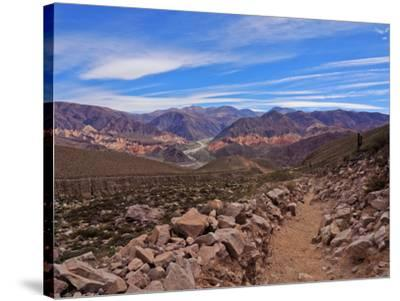 Landscape of surrounding mountains, Tilcara, Jujuy Province, Argentina, South America-Karol Kozlowski-Stretched Canvas Print