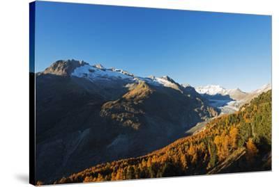 Aletsch Glacier, Jungfrau-Aletsch, UNESCO World Heritage Site, Valais, Swiss Alps, Switzerland, Eur-Christian Kober-Stretched Canvas Print