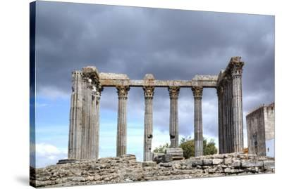 Roman Temple, Evora, UNESCO World Heritage Site, Portugal, Europe-Richard Maschmeyer-Stretched Canvas Print