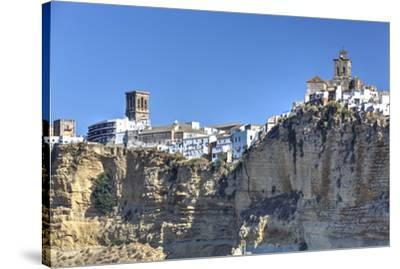 Overview from the south, Arcos de la Frontera, Andalucia, Spain, Europe-Richard Maschmeyer-Stretched Canvas Print
