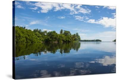 Utwe lagoon, UNESCO Biosphere Reserve, Kosrae, Federated States of Micronesia, South Pacific-Michael Runkel-Stretched Canvas Print