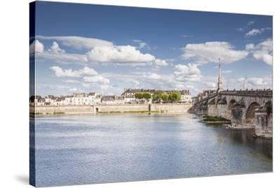 The Pont Jacques Gabriel in Blois, Loir-et-Cher, Centre-Val de Loire, France, Europe-Julian Elliott-Stretched Canvas Print
