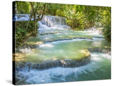 Keang Si waterfalls, near Luang Prabang, Laos, Indochina, Southeast Asia, Asia-Melissa Kuhnell-Stretched Canvas Print