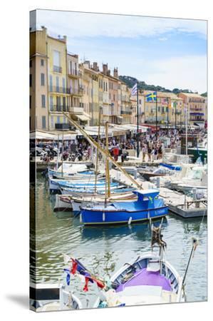 Quai Jean Jaures, Saint-Tropez, Var, Cote d'Azur, Provence, France, Mediterranean, Europe-Fraser Hall-Stretched Canvas Print