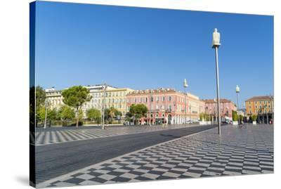 Place Messina, Nice, Alpes Maritimes, Cote d'Azur, Provence, France, Mediterranean, Europe-Fraser Hall-Stretched Canvas Print