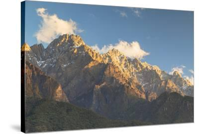 Tiger Leaping Gorge, UNESCO World Heritage Site, and Jade Dragon Snow Mountain (Yulong Xueshan), Yu-Ian Trower-Stretched Canvas Print