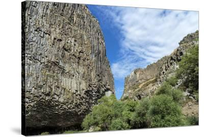 Symphony of Stones, Basalt columns formation along Garni gorge, Kotayk Province, Armenia, Caucasus,-G&M Therin-Weise-Stretched Canvas Print