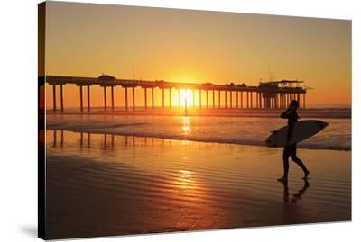 Scripps Pier, La Jolla, San Diego, California, United States of America, North America-Richard Cummins-Stretched Canvas Print
