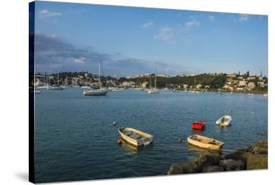 Little boats in the Magenta Port Sud, bay, Noumea, New Caledonia, Pacific-Michael Runkel-Stretched Canvas Print