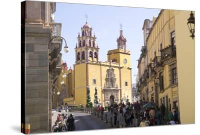 Basilica Collegiata de Nuestra Signora, Guanajuato, UNESCO World Heritage Site, Mexico, North Ameri-Peter Groenendijk-Stretched Canvas Print