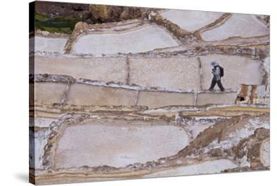 Maras Saltpan Salinas in the Sacred Valley of the Incas, near Cusco, Peru, South America-Julio Etchart-Stretched Canvas Print