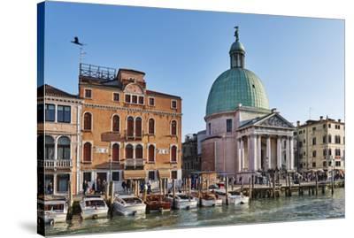 San Simeone Piccolo church on the Grand Canal, Venice, UNESCO World Heritage Site, Veneto, Italy, E-Marco Brivio-Stretched Canvas Print