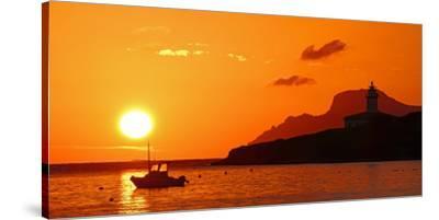 Morning mood at the Lighthouse of Alcanada, Alcudia, Majorca, Balearic Islands, Spain, Mediterranea-Hans-Peter Merten-Stretched Canvas Print