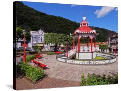 Bandstand in Jardim da Republica, Velas, Sao Jorge Island, Azores, Portugal, Atlantic, Europe-Karol Kozlowski-Stretched Canvas Print