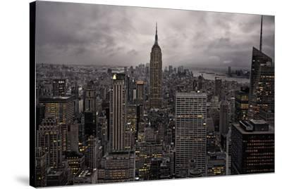 New York City skyline from above, New York, United States of America, North America-David Rocaberti-Stretched Canvas Print