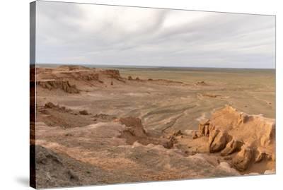 Flaming cliffs, Bajanzag, South Gobi province, Mongolia, Central Asia, Asia-Francesco Vaninetti-Stretched Canvas Print