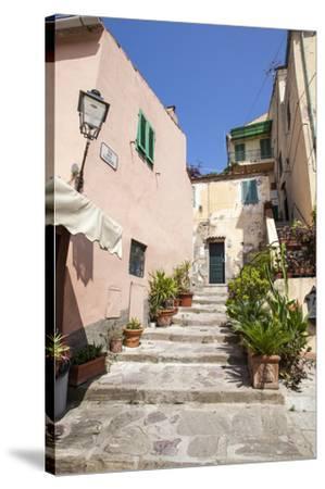 Ancient alley, Porto Azzurro, Elba Island, Livorno Province, Tuscany, Italy, Europe-Roberto Moiola-Stretched Canvas Print