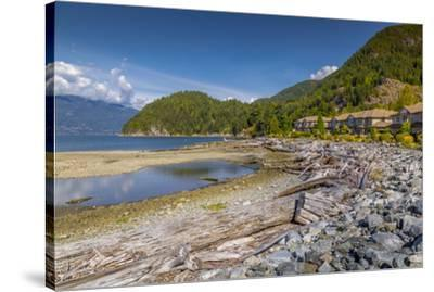 View of How Sound at Furry Creek off The Sea to Sky Highway near Squamish, British Columbia, Canada-Frank Fell-Stretched Canvas Print
