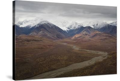 Polychrome Mountain range in Denali National Park, Alaska, United States of America, North America-JIA JIAHE-Stretched Canvas Print