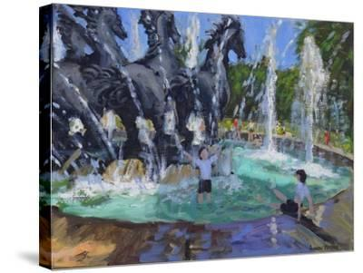 Four Horses Fountain, Manezhnaya Square, Moscow, 2016-Andrew Macara-Stretched Canvas Print
