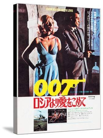 From Russia with Love, Japanese Poster Art, Top from Left: Daniela Bianchi, Sean Connery, 1963--Stretched Canvas Print