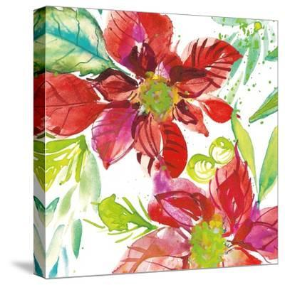 Poinsettia Pretty I-Kristy Rice-Stretched Canvas Print