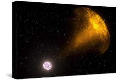 Gamma Ray Burst from Colliding Neutron Stars--Stretched Canvas Print