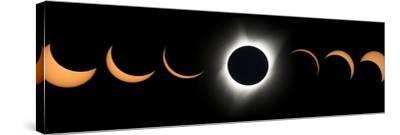 2017 Total Solar Eclipse, Composite Image--Stretched Canvas Print