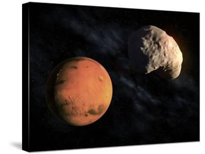 Mars and Deimos, Artwork--Stretched Canvas Print