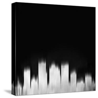 Phoenix City Skyline - White-NaxArt-Stretched Canvas Print