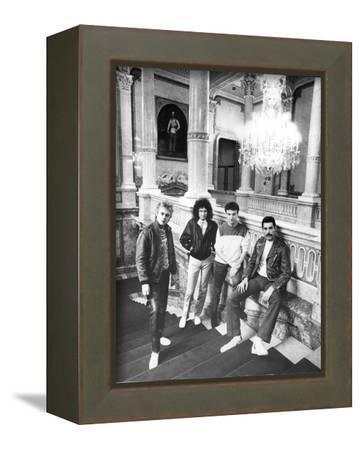 Queen in Vienna-Associated Newspapers-Framed Stretched Canvas Print