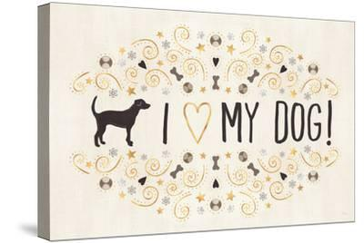 Otomi Dogs I Neutral-Veronique Charron-Stretched Canvas Print