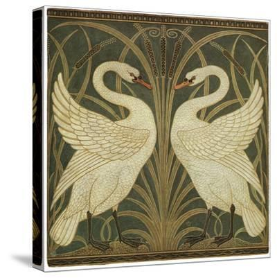 Swan Design-Walter Crane-Stretched Canvas Print