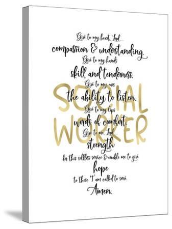 Social Worker Prayer-Tara Moss-Stretched Canvas Print
