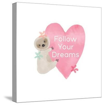 Follow Your Dreams Heart-Linda Woods-Stretched Canvas Print