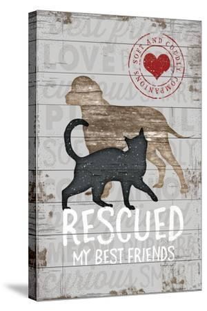 Rescued My Best Friend-Jennifer Pugh-Stretched Canvas Print