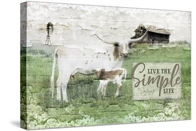 LIVe the Simple Life-Jennifer Pugh-Stretched Canvas Print