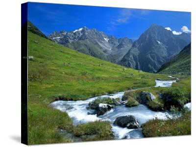 Austria, Pitztal, Plangero?alpe Against High Violin-Ludwig Mallaun-Stretched Canvas Print